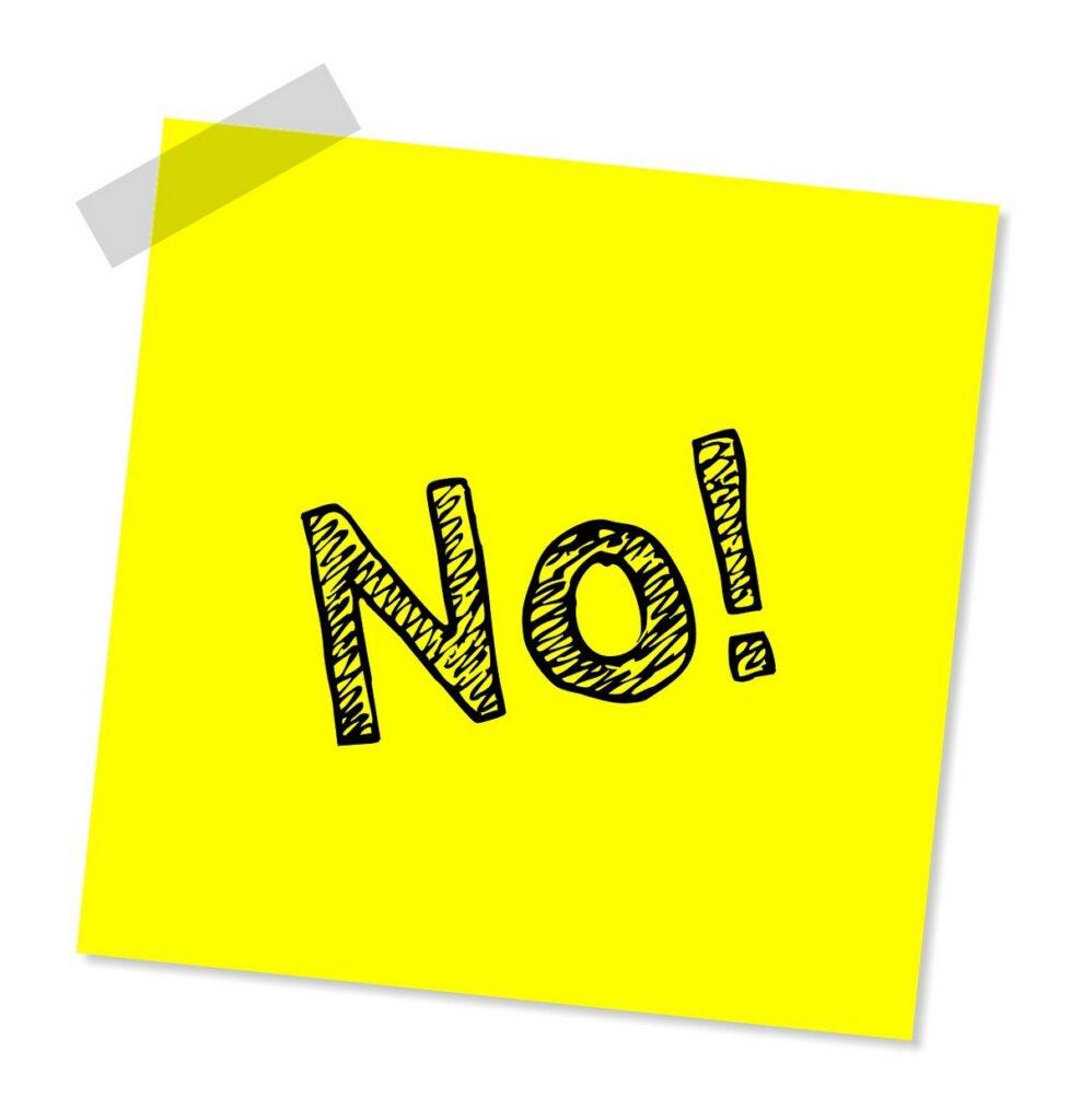 dont do list not do list